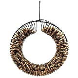 Pinebush Suet Balls or Peanuts Wreath Bird Feeder (Black)
