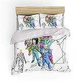 SHUOSHUO Juego de ropa de cama con diseño de dragón de anime con impresión en 3D, funda de edredón, fundas de almohada, juego de ropa de cama, ropa de cama (sin sábana) (LZ001004, Full(198,2 cm 228 cm)