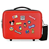 Disney Have a Good Day Mickey Nececer Adaptable Rojo 29x21x15 cms ABS
