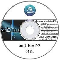AntiX Linux Live 19.3 (64Bit) - Bootable Linux Installation DVD