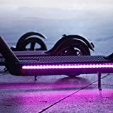 2 Pcs Foldable LED Strip Lights, Electric Scooter Strip Light Foldable Colorful LED Strips Lights for Xiaomi Scooter Millet Skateboard Light Belt Cycling Safety Decorative Light