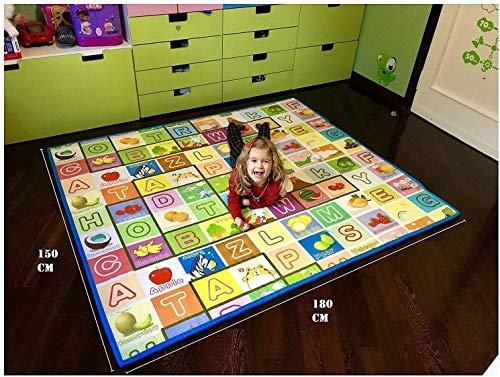 GLOBOLANDIA Tappeto Bambini Ultra Spessore 92715SUC Ideale per Il Gattonamento 180x150x2 Double Face (...