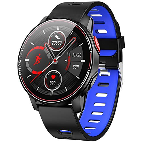 """Smartwatch,1.3\"""" wasserdichte Smart Watch Herrenuhr Armbanduhr Sportuhr Mit Herzfrequenz Schlaftracker Für Damen Herren Kinder Kompatibel Mit Android Ios,Blue"""