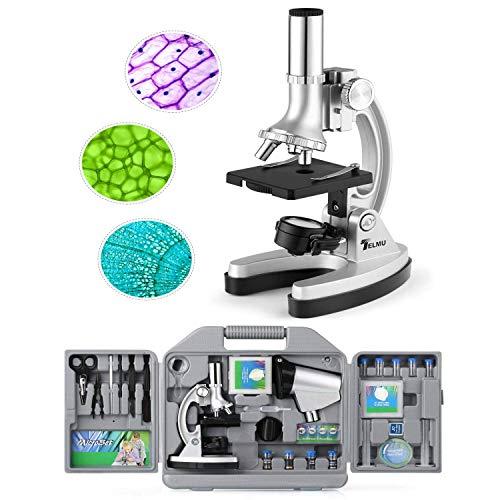 TELMU Microscopio de Bolsillo para niños y Principiantes, p