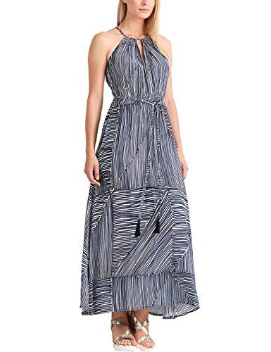 APART Fashion Damen Kleid Fashion: Summer Highlights Blue Stripes, NA, Mehrfarbig (Himmelblau-Weiß), 42