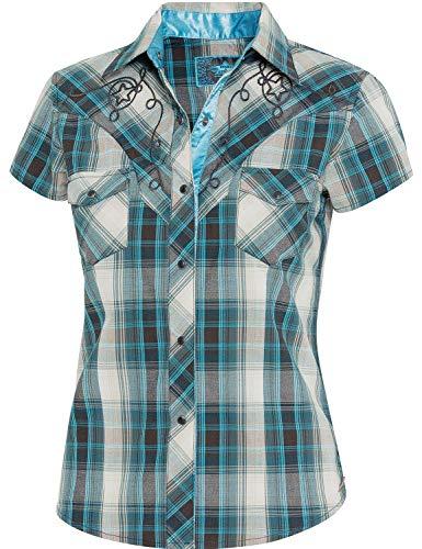 STARS & STRIPES Damen Bluse Westernbluse Bikerin Country Cowgirl Western Westernstyle »Josie« Gr.M