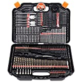 Drill Bit Set, SEDY 246-Pieces Drill Bits and Driver Set, Drilling and Driving Accessory Kit for Wood Metal Cement Drilling and Screw Driving, Top Rated Combo Kit Assorted in Plastic Carrying Case