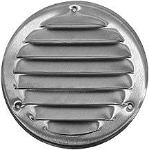 Ø 160 mm buitenmaat roestvrij staal ventilatierooster afsluitrooster insectenbescherming afvoerlucht lucht rond metalen ro...