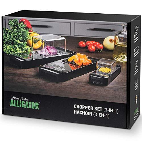 Alligator 3002B Chopper Set - Black Edition | Gemüse-und Obst-Schneider/-Würfler