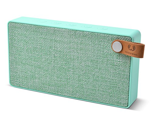 Fresh 'n Rebel Speaker Rockbox Slice Fabriq Edition, Altoparlante Bluetooth Tascabile 6W, Extra Bass, Vivavoce, Verde peppermint