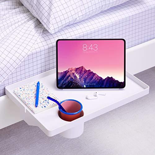 BedShelfie - Mensola da comodino per letto e letto a castello, modello essenziale, 4 colori e 5 stili come si vede su Business Insider (Essential in Large 17 x 11,6 cm, bianco in plastica)