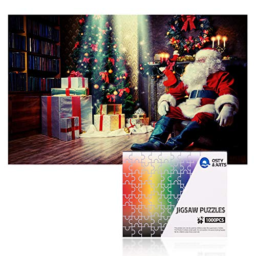 Puzzles for Adults 1000 Pieces Christmas Santa Puzzle Family Games - Old Fashioned Santa Puzzle,Home Decoration,Office Wall Decoration Painting,Halloween