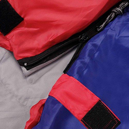 Schlafsack ICY North Winterschlafsack -13°C bis 6°C Mumienschlafsack 230x82 cm Deckenschlafsack Rot