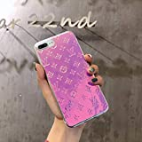 Purple Magic - Luxury Elegant Designer PU Leather Classic Style Protective Case Cover Anti Scratch Drop Protection for Apple (iPhone 6/6s/7/8 Plus)