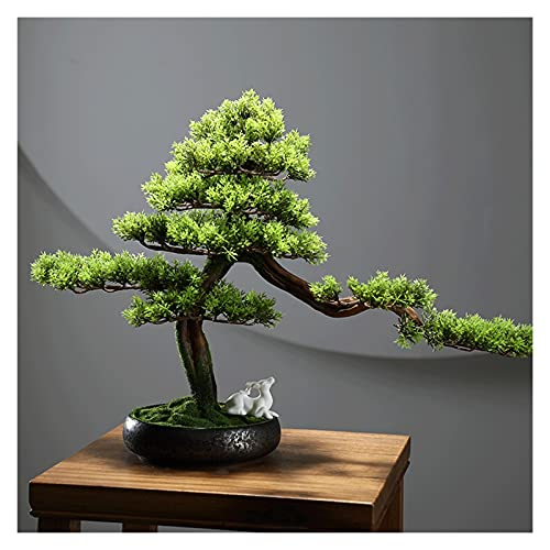 YHshop Fake Plants/Faux Plants 16 Inches Artificial Bonsai Tree,faux Plants Decorated by Fawn, for Home Office, Zen Garden Décor (with Cleaning Brush) Artificial indoor plants