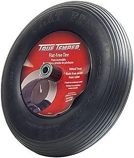 True Temper FFTCC 8 in. Hub Never Flat Wheelbarrow Tire with Ribbed Tread, 8-Inch