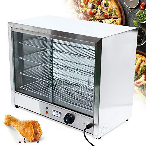 Servidor de buffet,Vitrina caliente comida,Vitrina superior mostrador de calor,4 niveles Vitrina de calentamiento,Mostrador de calentamiento de acero inoxidable (30-80°C Temperatura ajustable,1000W)