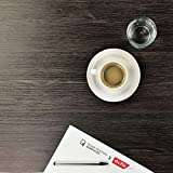 [12,14€/m²] Klebefolie in Holz-Optik inkl. Rakel & eBook I versch. Dekore & Maße I Selbstklebende Folie Holz für Möbel Küche Tür & Deko I Möbelfolie Holzdekor dunkel - Eiche Umbra [210 x 90cm] - 5