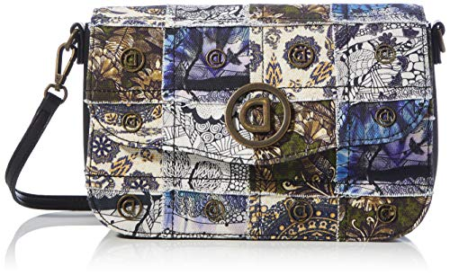 Desigual Accessories Fabric Across Body Bag, Donna, Nero, U