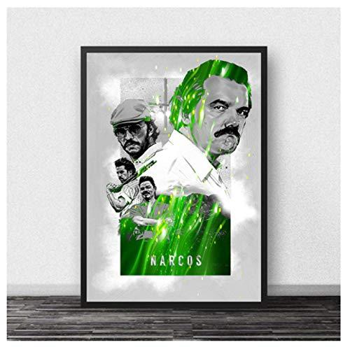 JCYMC Leinwand Bild Narcos Poster Filme American Tv Wandkunst Gemälde Poster Kunst Wohnzimmer Zimmer Dekor Km104Zh 40X60Cm Rahmenlos
