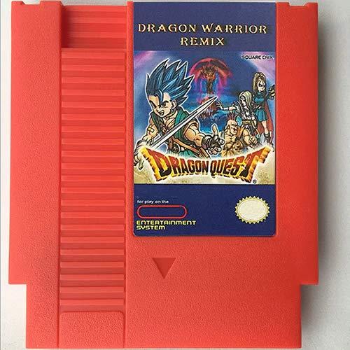 Jhana Cartucho de juego Dragon Warrior Remix, Progress Saver, Dragon Warrior 1/2/3/4, Dragon Quest 1/2/3/4 para 8 bits 72 pines 8 bits