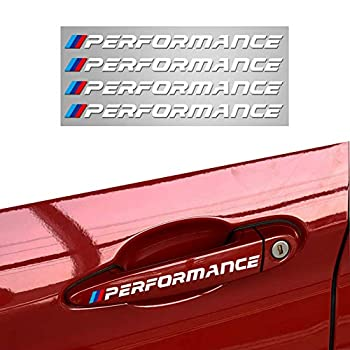 Duoles New Car Sports Styling Racing Decoration Performance Door Handle Stickers Front Decal Styling For BMW M3 M5 X1 X3 X5 X6 E36 E39 E46 E30 E60 E92  White Door Handle