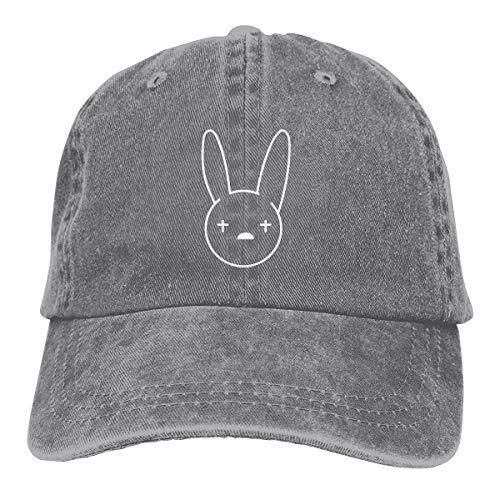Gorra Hombre Béisbol Retro Snapback Unisex Jeans Hat Bad-Bunny Muisc Logo Lightweight Breathable Soft Baseball Cap Sports Cap Adult Trucker Hat Mesh Cap
