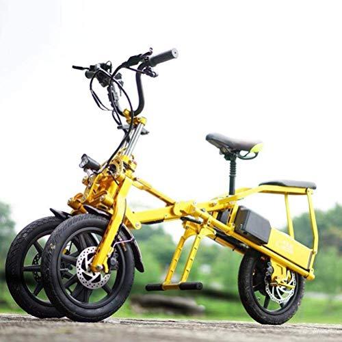 Coche Eléctrico Plegable Portable, Conveniente De Gama Alta De 14 Pulgadas Triciclo...