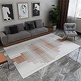 Antideslizante Alfombras Degradado Cabello Corto Rug Mosaico De Raya Gris Marrón Alfombra Outlet100X160cm