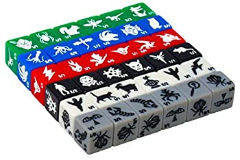 Monster Rocks  36 Token dice  6X of Each Color Great for Magic The Gathering.