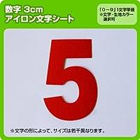 数字ナンバーワッペン(3cm) ※1~9まで1文字単位でお申込み頂けます 生地:刺繍調 (緑) ブロック