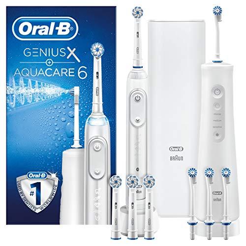 Oral-B Mundpflege-Center Aqua Care 6 Pro-Expert Munddusche & Oral-B Genius X Elektrische Zahnbürste