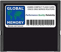 GLOBAL MEMORY MEM2800-64U256CF - Tarjeta de Memoria Flash compacta para Modelos Cisco 2800 Series RoUTERS (Cisco P/N MEM2800-256CF, MEM2800-64U256CF)