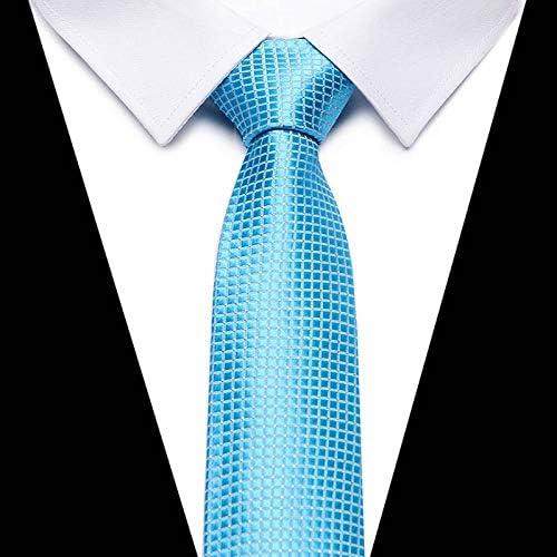 WOXHY Gold Striped Silk Men Neckties Plaid 8Cm Width Neck Ties for Men Wedding Tie Work Office Necktie Mariage Gravata Cravat