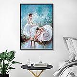 ganlanshu Pintura sin Marco Ballet Pintura a la Acuarela Pintura al óleo minimalismo Abstracto Cartel Arte de la Pared decoración del hogar Lienzo Pintura ZGQ3680 30X40cm