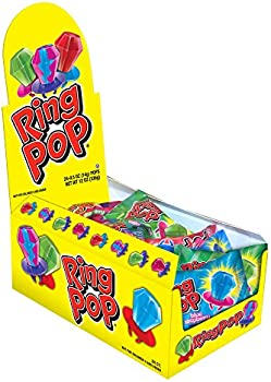 24-Count Ring Pop Individually Wrapped Bulk Lollipop Variety Party Pack