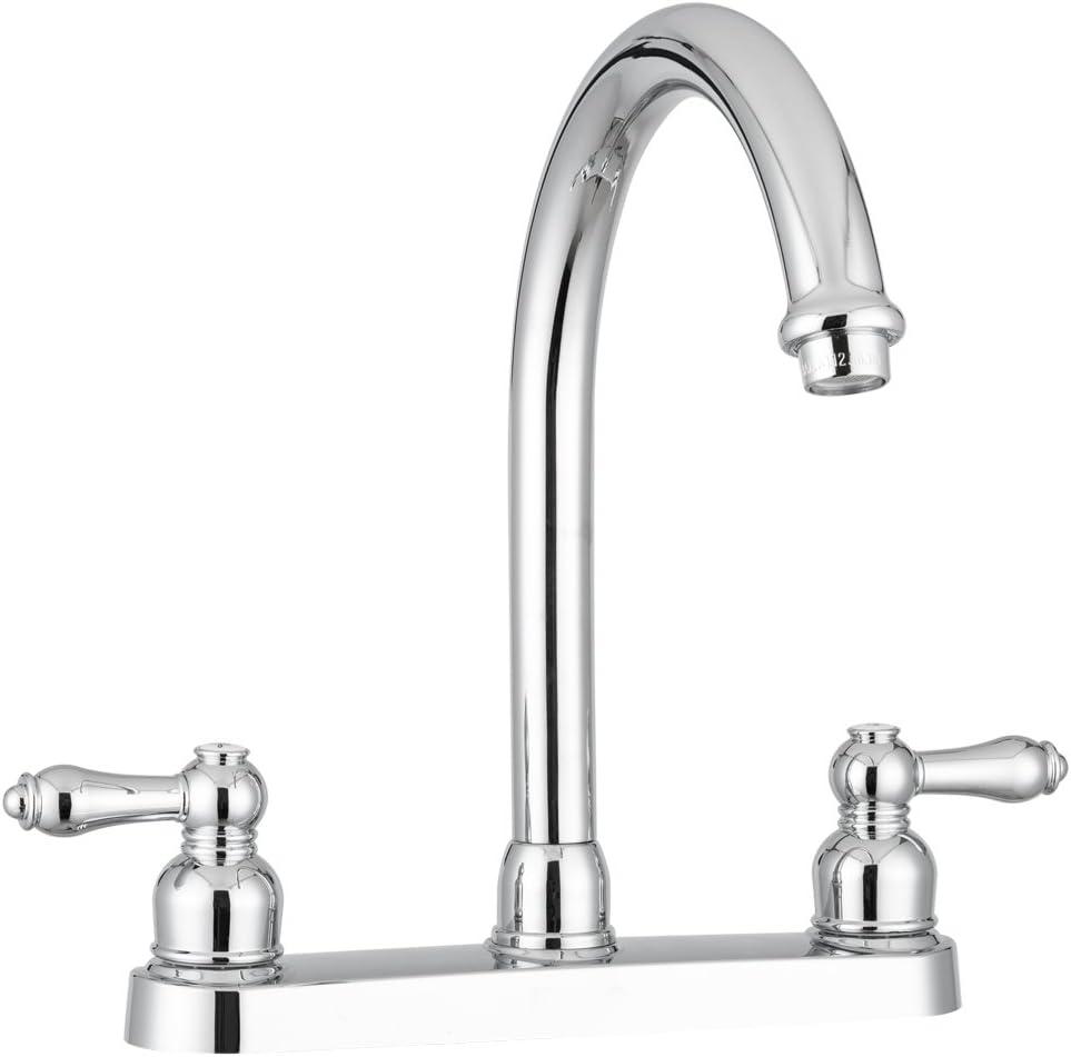 Dura Faucet DF-PK340L-CP RV Manufacturer OFFicial shop Non-Metallic Sink Fa J-Spout Special price Kitchen
