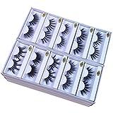 25mm Mink Lashes Wholesale 10 Styles 25mm False Eyelashes Thick Strip Makeup Dramatic Long Mink Eyelashes Bulk (10 pairs/package)