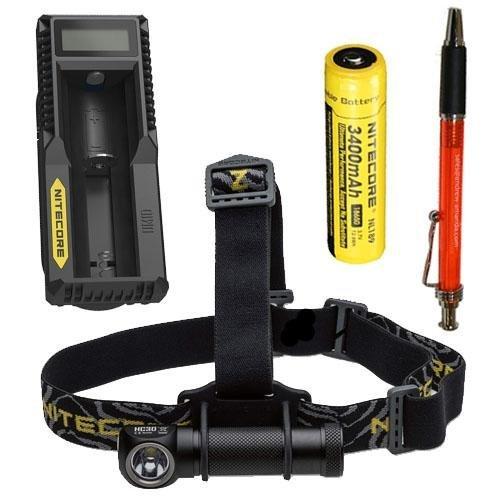Nitecore Hc301000lm lampe frontale W/Nl1893400mAh batterie et chargeur UM10