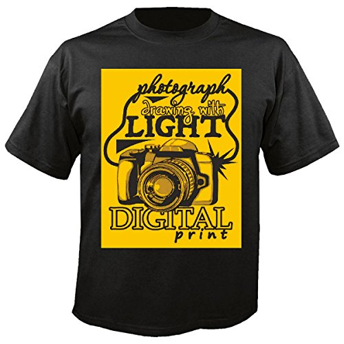 T-shirt, digitale camera, fotografie, groothoeklens, digitale camera, fotografie, onderwatercamera, SLR, zwart