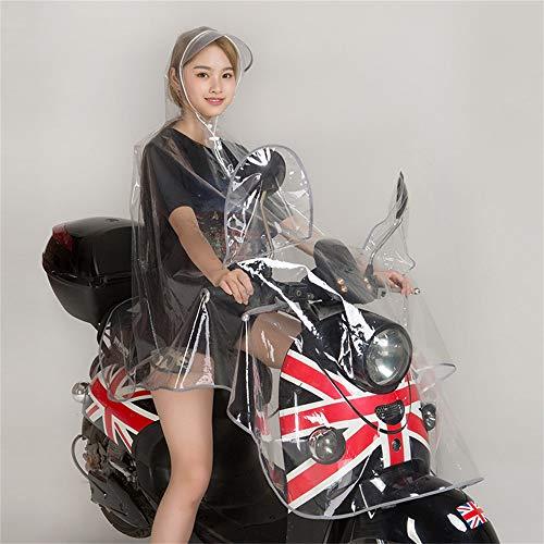 Geyao Impermeable Transparente Montando Motocicleta Adulto Poncho Hombres y Mujeres Bicicleta eléctrica...