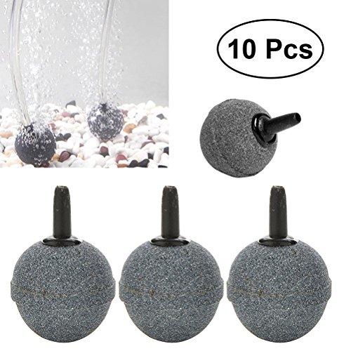 UEETEK 100Ausströmsteine Diffusor Aquarium Fisch Tank Pumpe Hydrokultur Mineral Blase Diffusor 20mm x 20mm