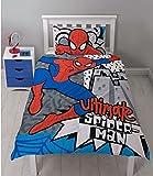 Spiderman Ultimate - Juego de Funda de edredón (poliéster-algodón), Color Blanco