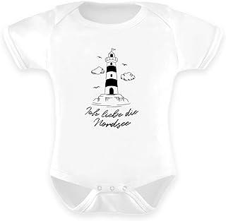 Generisch Ich Liebe die Nordsee Küste Leuchtturm Norddeich Strampler Urlaubserinnerung - Baby Body