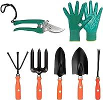 Kraft Seeds Gate Garden Spectacular Gardening Tools Set with Heavy Gardening Cut Tool and One Pair Hand Gloves (Orange...
