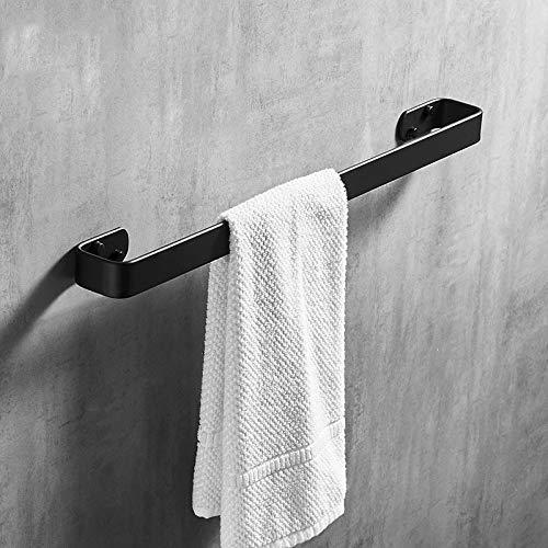 Toallero de barra de 20,3 cm, soporte de aluminio, para accesorios de baño, montaje en pared, color negro mate, 30 cm