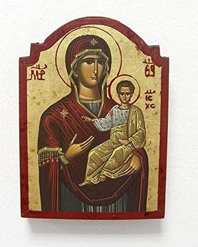 Griekse icoon ca. 14 x 10 cm Madonna