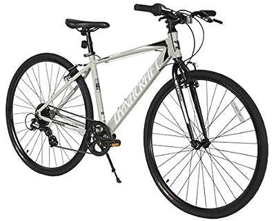 Dynacraft Alpine Eagle 700C 45CM Aluminum Frame Hybrid Bike, Black