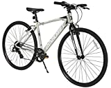 Dynacraft Alpine Eagle 700C 45CM Aluminum Frame Hybrid Bike, Black