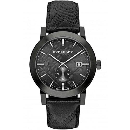 Burberry Watch Swiss Made Black Leather BU9906